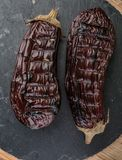 grillad aubergine royaltyfri fotografi
