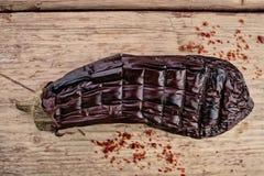 grillad aubergine arkivfoton