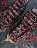 grillad aubergine arkivfoto