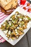Grillad auberginesallad Royaltyfria Bilder