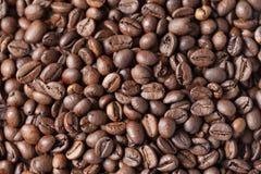 Grillad bakgrund för kaffebönor Royaltyfria Bilder