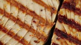 Grillad bio mat för tonfisk arkivfilmer