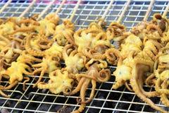 grillad bläckfisk Royaltyfri Foto