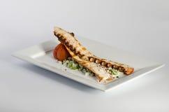 Grillad bläckfisk Fotografering för Bildbyråer