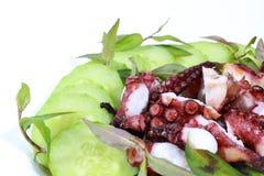 Grillad bläckfisk Arkivbilder