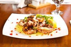 Grillad bläckfisk Royaltyfri Fotografi