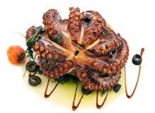 grillad bläckfisk Arkivfoton