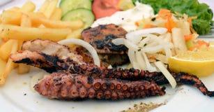 grillad bläckfisk Royaltyfria Bilder