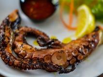 grillad bläckfisk Royaltyfria Foton