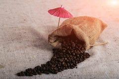 Grillad Coffe böna, trevlig textur arkivbild