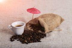 Grillad Coffe böna, trevlig textur Fotografering för Bildbyråer