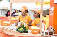 Grillad festival av Abidjan Arkivbilder