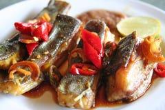 grillad fisk arkivfoto