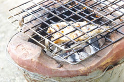 grillad fisk Fotografering för Bildbyråer