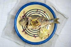 grillad fiskcitron Royaltyfria Bilder