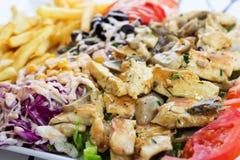 Grillad-Fleisch mit Pilzen Stockbilder
