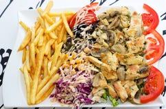 Grillad-Fleisch mit Pilzen Lizenzfreie Stockfotografie