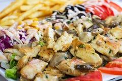 Grillad-Fleisch mit Pilzen Lizenzfreies Stockfoto