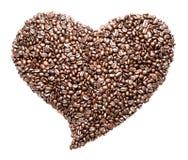 grillad form för bönakaffe hjärta Royaltyfri Foto