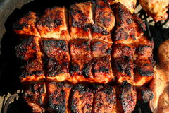 Grillad fransyska för griskött för landsstil Arkivfoton