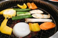 Grillad grönsak eller grillad blandad grönsak Royaltyfri Foto
