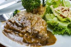 Grillad grisköttbiff Fotografering för Bildbyråer