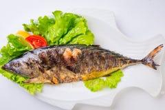 Grillad havsfisk från över Royaltyfria Bilder