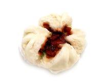 grillad isolerad pork för bulle kinesisk mat Royaltyfria Foton