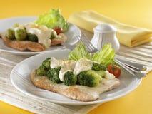 Grillad kalkon med broccoli Royaltyfri Foto