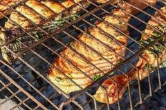 grillad lax arkivfoto