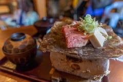 Grillad lokal stil för Hida nötköttmaträtt nytt Royaltyfri Fotografi