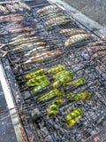 Grillad Mackeral fisk Royaltyfria Bilder