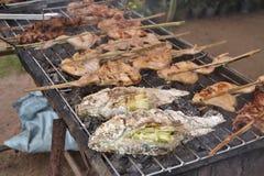 grillad mat Arkivbilder