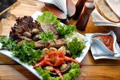 grillad meat Arkivbild