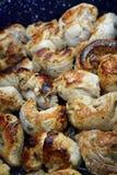 grillad meathöna Arkivbild