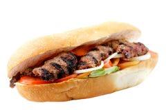 Grillad nötköttsmörgås Royaltyfri Fotografi