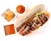 Grillad nötköttsmörgås Royaltyfria Foton