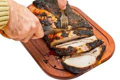 grillad pork Royaltyfri Bild