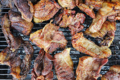 grillad pork Arkivfoto