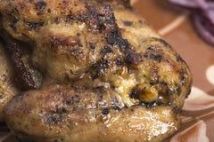 grillad porksteak Arkivbild