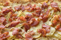Grillad potatis med bacon Fotografering för Bildbyråer