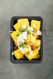 Grillad pumpa med ost Fotografering för Bildbyråer