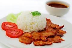 Grillad röd pork. Royaltyfria Foton