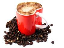 grillad romantiker för bönacappuccino kaffe Royaltyfri Fotografi