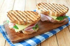grillad smörgås arkivbilder