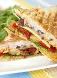 grillad smörgås arkivbild