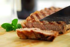 grillad steak arkivbild