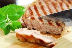 grillad steak arkivbilder