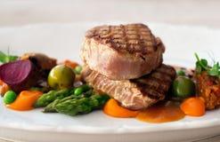 grillad steakstonfisk royaltyfri bild