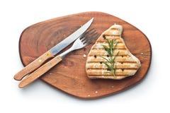 grillad steaktonfisk royaltyfri foto